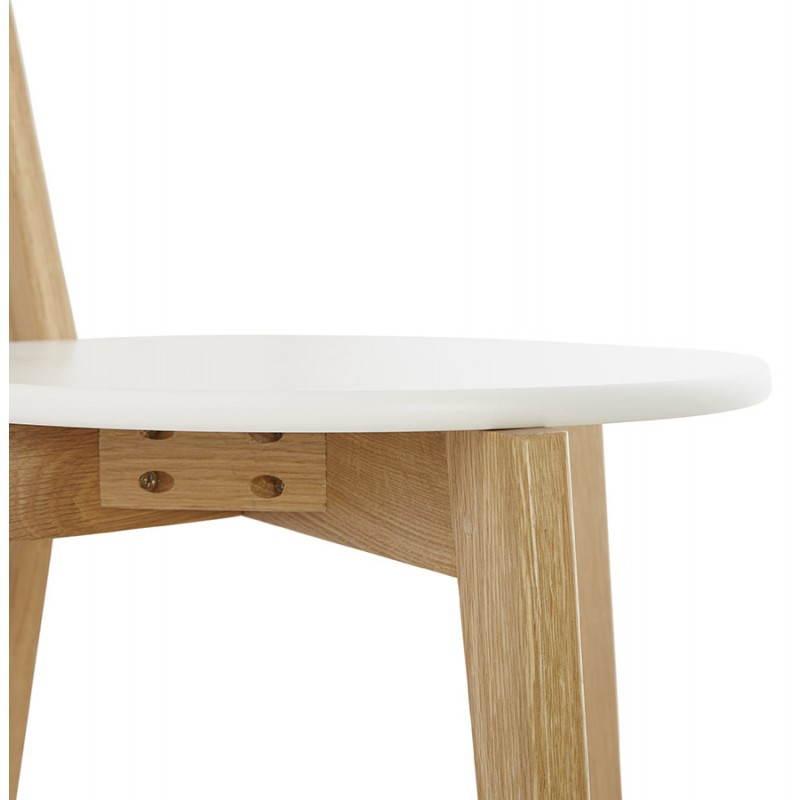 Chaise design style scandinave SCANDI en bois (blanc) - image 25506