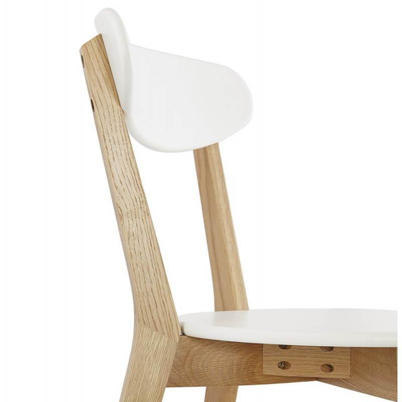 Chaise design style scandinave SCANDI en bois (blanc) - image 25507