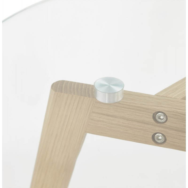 Coffee tables design pull-out ART in glass and oak (transparent) - image 25518