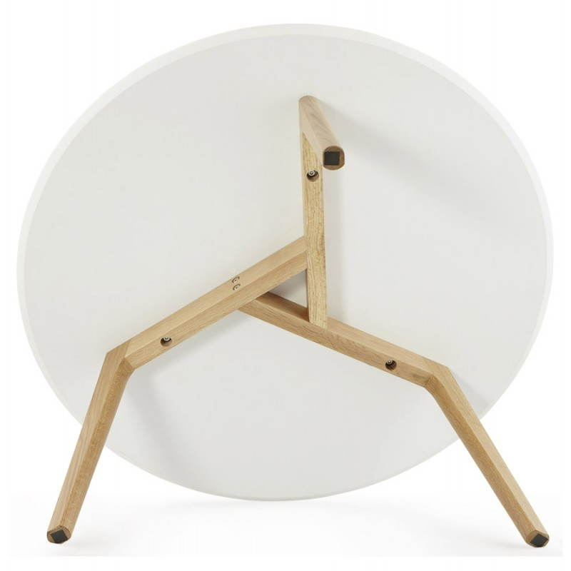 Table basse scandinave tarot en bois et ch ne massif blanc for Table basse en metal scandinave