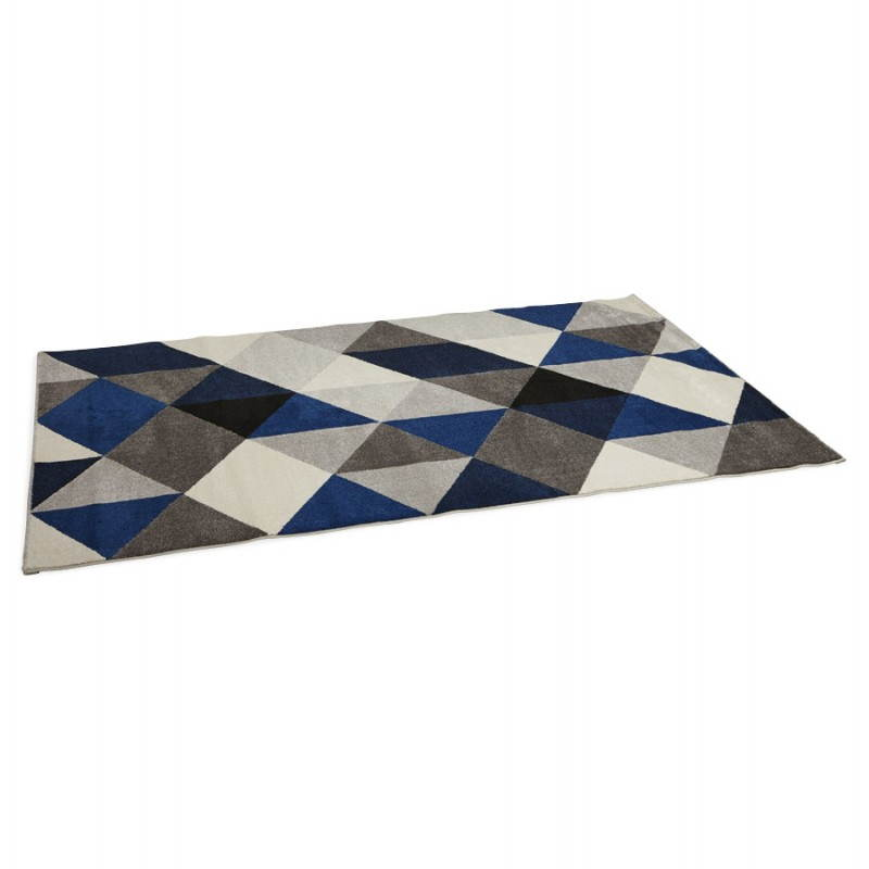 Tapis design style scandinave rectangulaire GEO (230cm X 160cm) (gris, bleu, beige) - image 25572