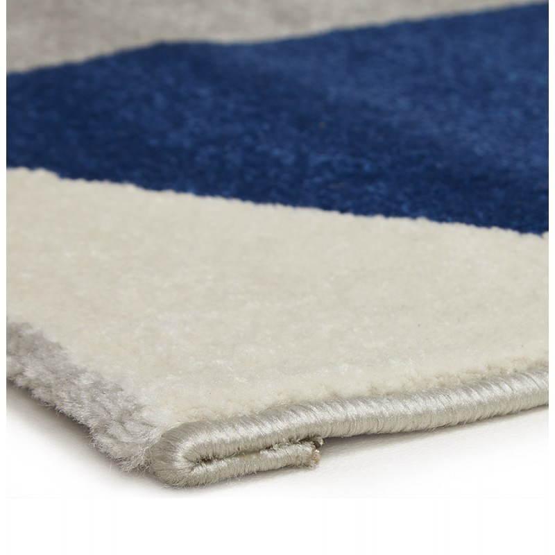 Tapis design style scandinave rectangulaire GEO (230cm X 160cm) (gris, bleu, beige) - image 25575