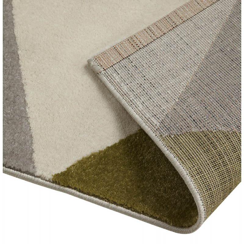 Tapis design style scandinave rectangulaire GEO (230cm X 160cm) (vert, gris, beige) - image 25720