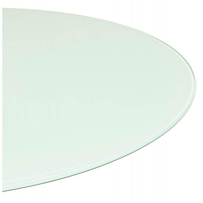 Design Esstisch Runde MANGO (weiß) temperiert Gläser (Ø 120 cm) - image 25723