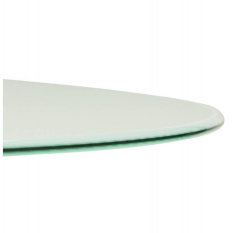 Design Esstisch Runde MANGO (weiß) temperiert Gläser (Ø 120 cm) - image 25724
