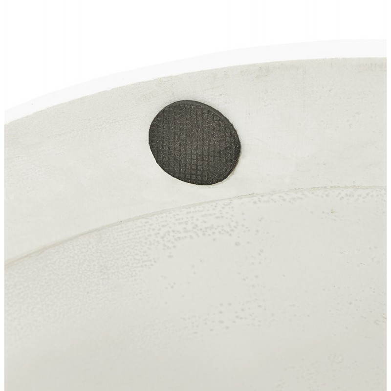 Design Esstisch Runde MANGO (weiß) temperiert Gläser (Ø 120 cm) - image 25729