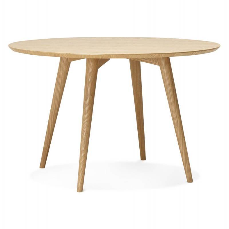 Table à manger style scandinave ronde PONY en bois (Ø 120 cm) (naturel)