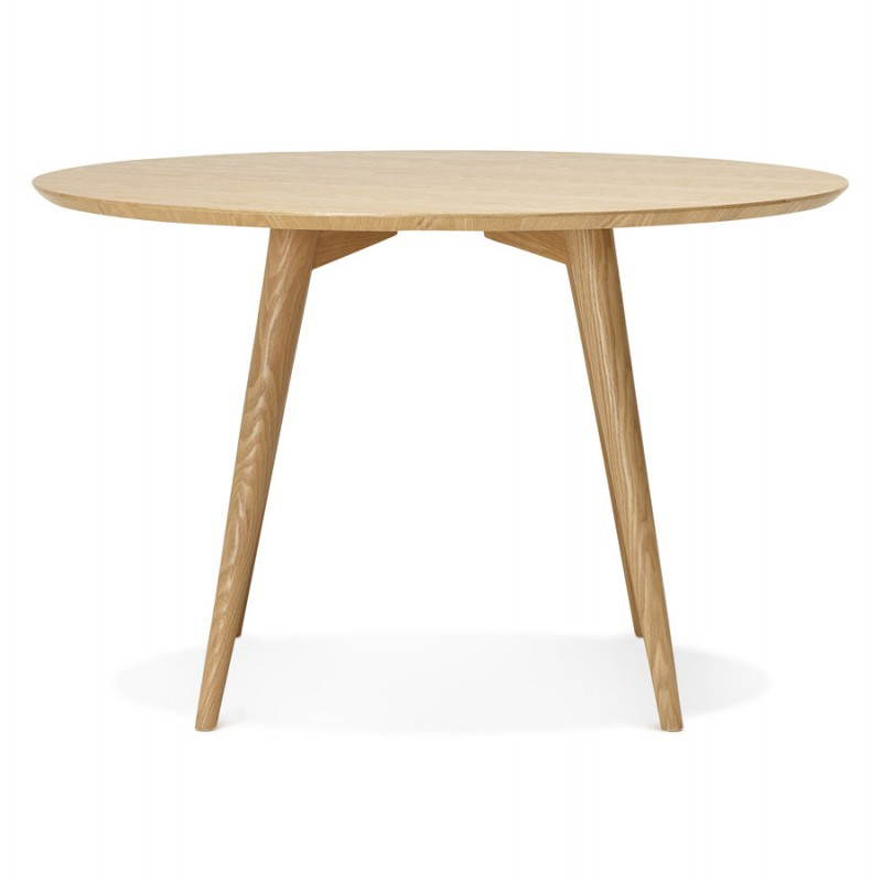 Table manger style scandinave ronde pony en bois 120 for Table a manger 120 cm