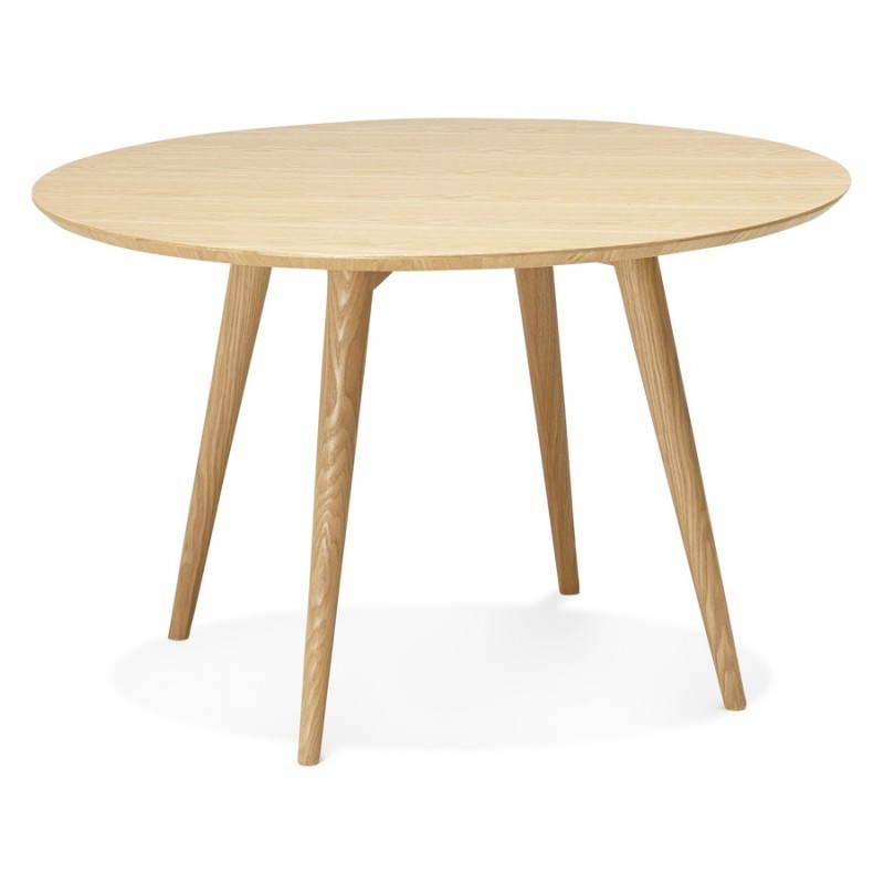 Table à manger style scandinave ronde PONY en bois (Ø 120 cm) (naturel) - image 25744