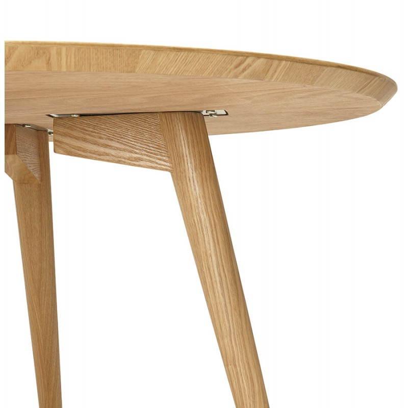 Table à manger style scandinave ronde PONY en bois (Ø 120 cm) (naturel) - image 25748
