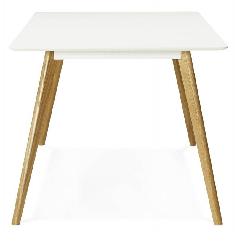 Table manger style scandinave rectangulaire orge en bois for Table rectangulaire scandinave
