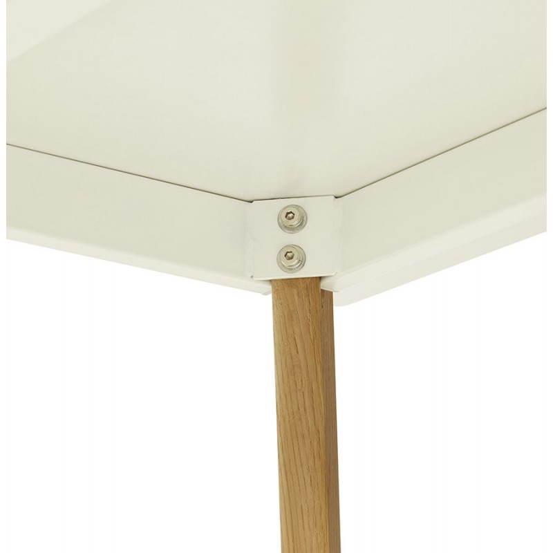 Table à manger style scandinave rectangulaire ORGE en bois (160cmX90cmX75cm) (blanc) - image 25759