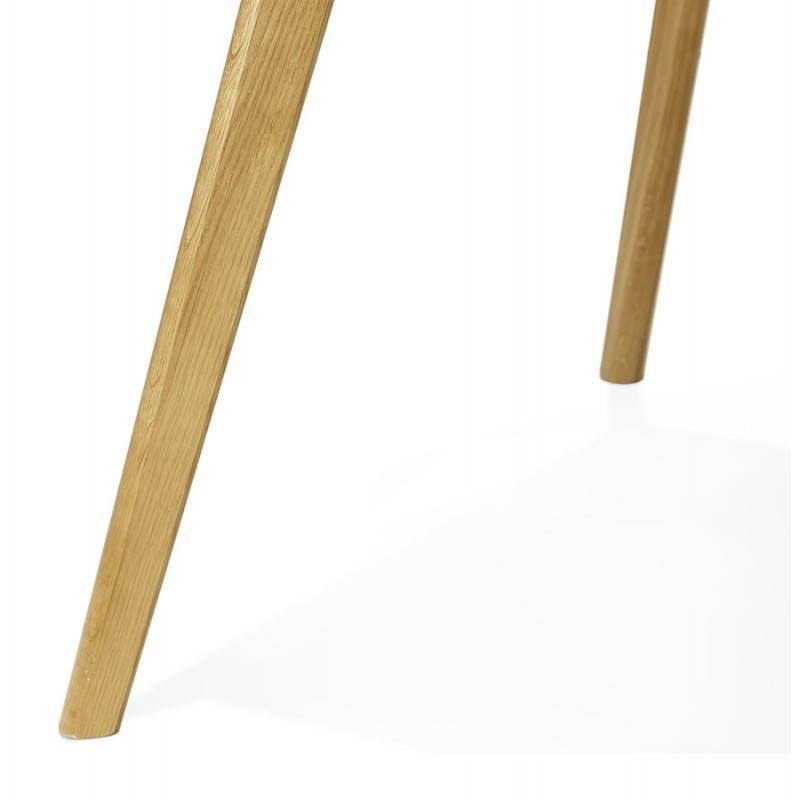 Table à manger style scandinave rectangulaire ORGE en bois (160cmX90cmX75cm) (blanc) - image 25760