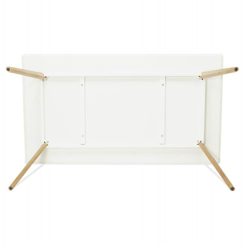Table à manger style scandinave rectangulaire ORGE en bois (160cmX90cmX75cm) (blanc) - image 25762