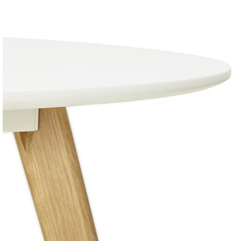 Tavolo da pranzo stile scandinavo tondo legno millet 120 cm bianco - Tavolo scandinavo ...