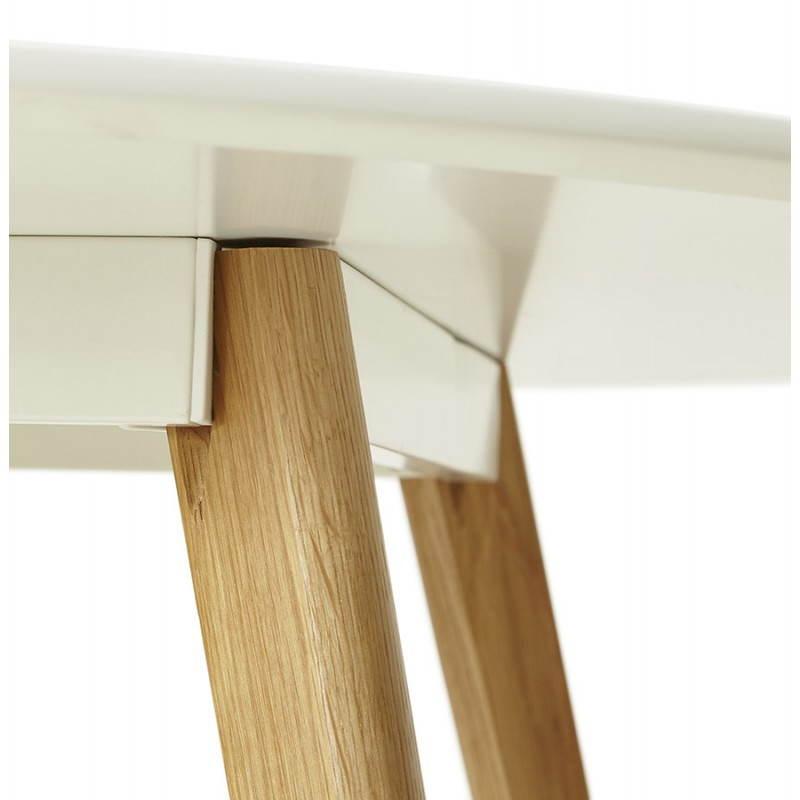 Table à manger style scandinave ronde MILLET en bois (Ø 120 cm) (blanc) - image 25769