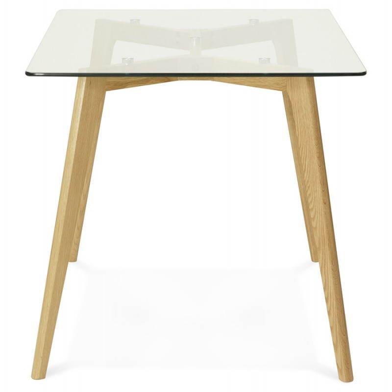 Table à manger style scandinave rectangulaire VARIN en verre (120cmX80cmX75cm) - image 25777