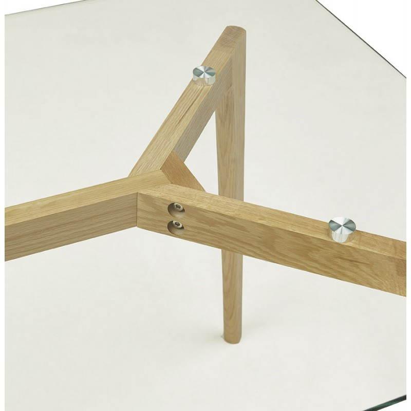 Dining table style scandinavian rectangular varin glass - Table a manger scandinave ...