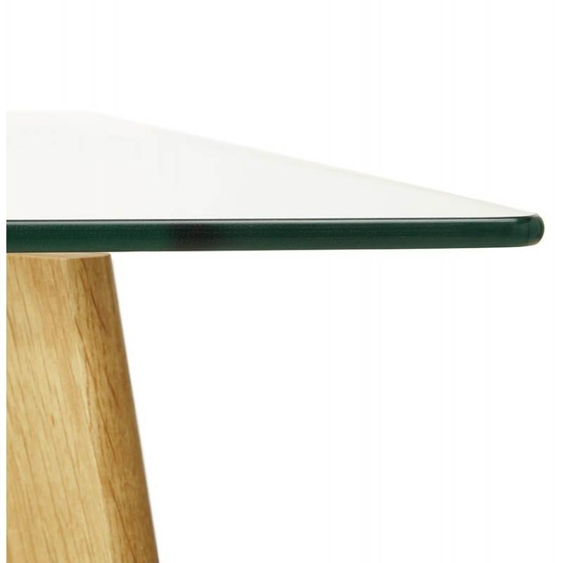 Table à manger style scandinave rectangulaire VARIN en verre (120cmX80cmX75cm) - image 25782