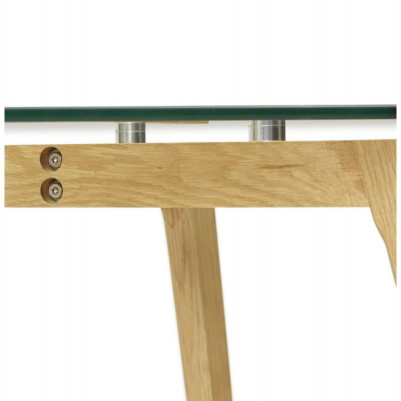 Table à manger style scandinave rectangulaire VARIN en verre (120cmX80cmX75cm) - image 25783