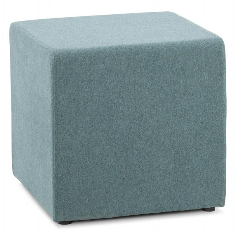 Pouf carré BARILLA en tissu (bleu) - image 25800