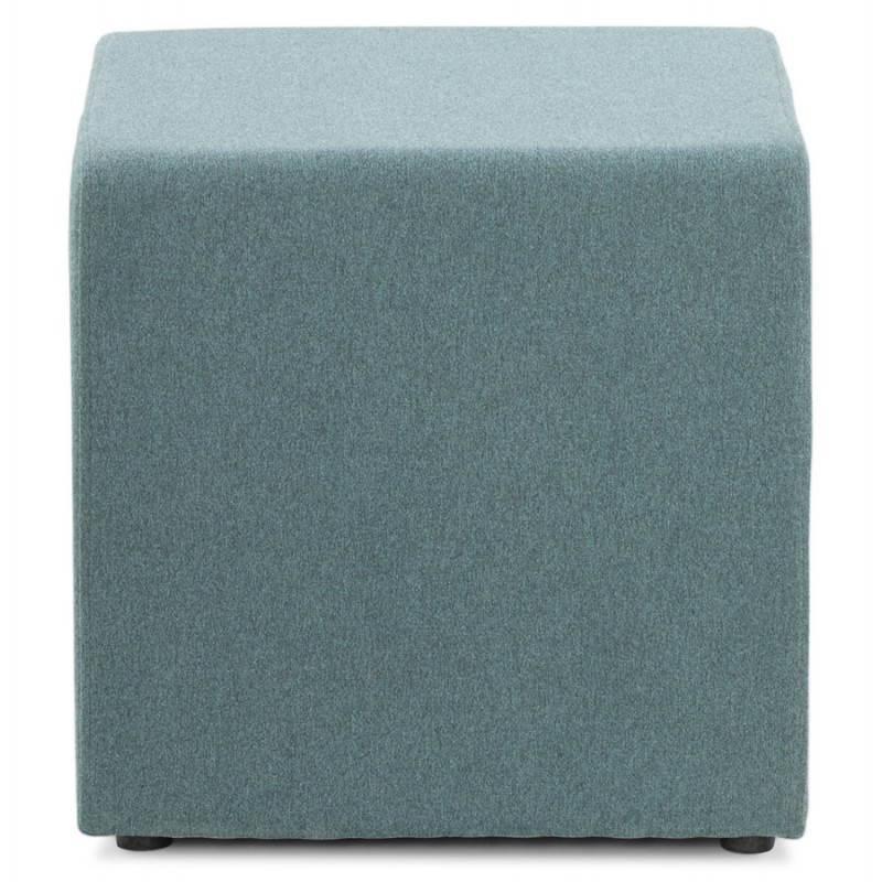 Pouf carré BARILLA en tissu (bleu) - image 25801