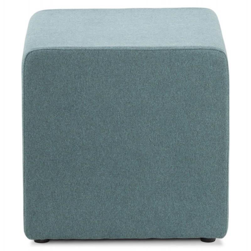 Pouf carré BARILLA en tissu (bleu) - image 25802