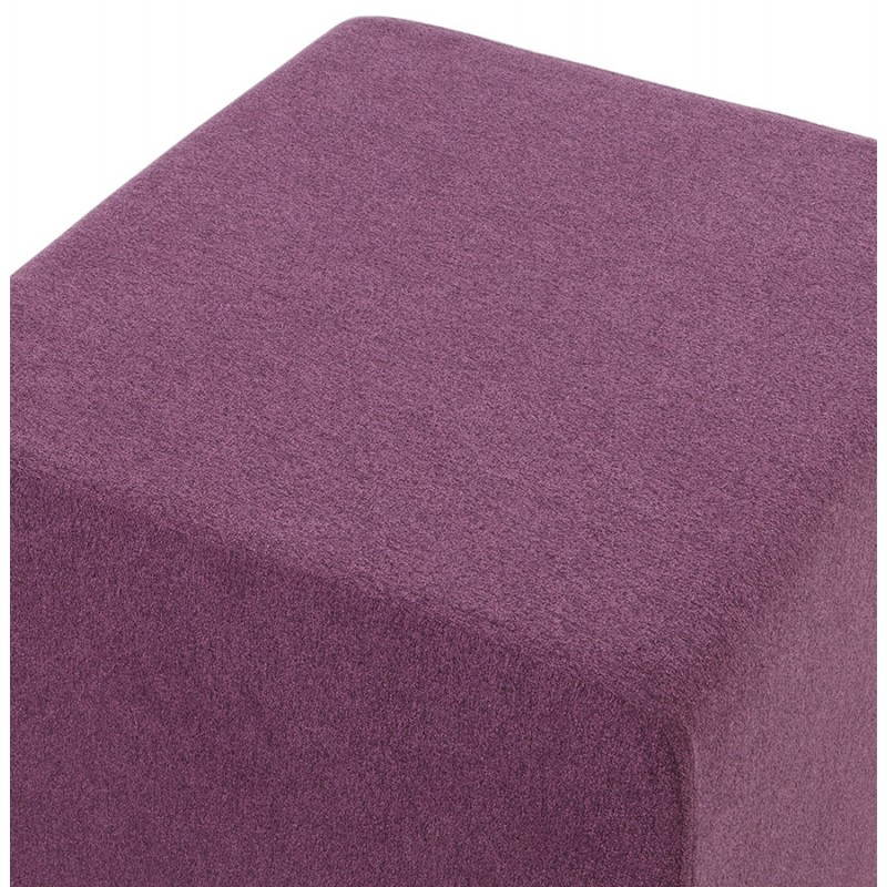 Pouf carré BARILLA en tissu (violet) - image 25814