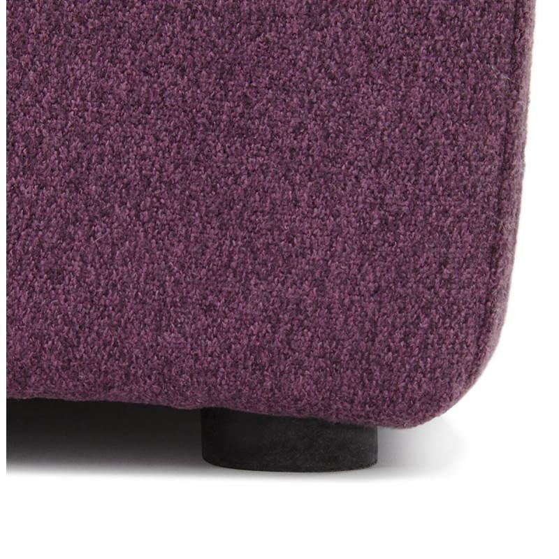 Puff tela cuadrado BARILLA (púrpura)