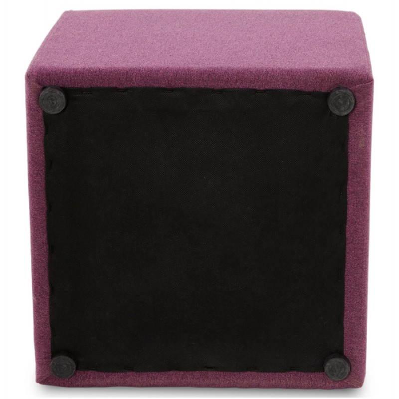 Pouf carré BARILLA en tissu (violet) - image 25823
