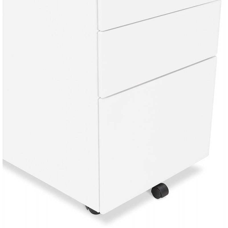 caisson de bureau design 3 tiroirs mathias en m tal blanc. Black Bedroom Furniture Sets. Home Design Ideas