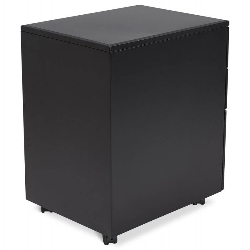 Subwoofer design desk 3 drawers MATHIAS (black) metal - image 25949