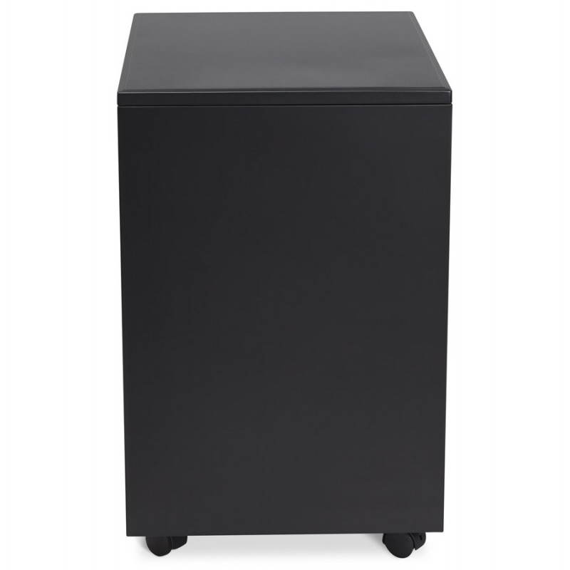 Subwoofer design desk 3 drawers MATHIAS (black) metal - image 25950