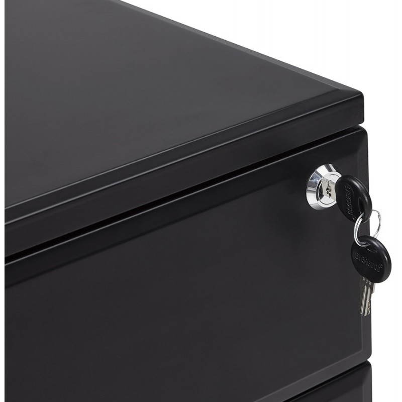 Subwoofer design desk 3 drawers MATHIAS (black) metal - image 25955