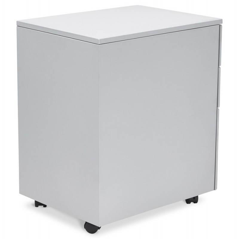 Caisson de bureau design 3 tiroirs MATHIAS en métal (gris) - image 25966