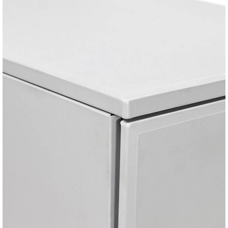 Caisson de bureau design 3 tiroirs MATHIAS en métal (gris) - image 25973