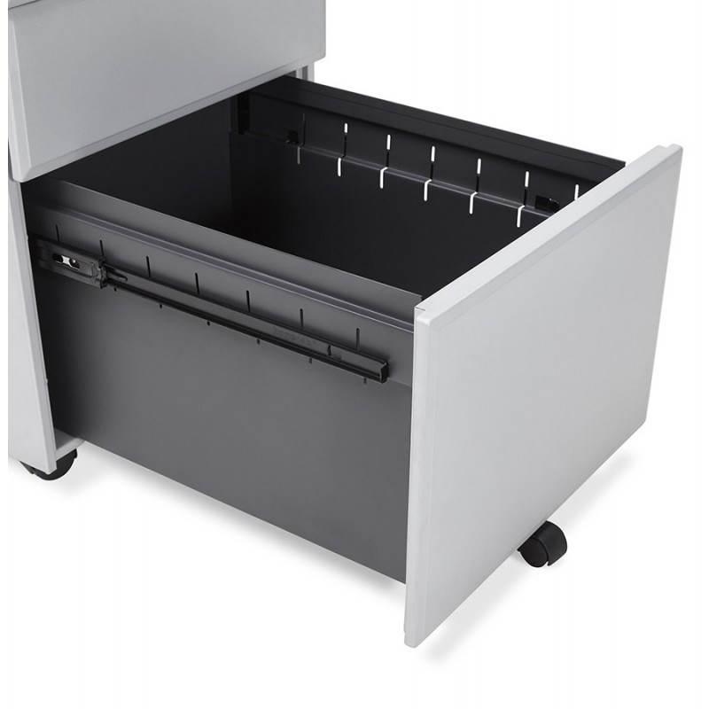 Caisson de bureau design 3 tiroirs MATHIAS en métal (gris) - image 25977