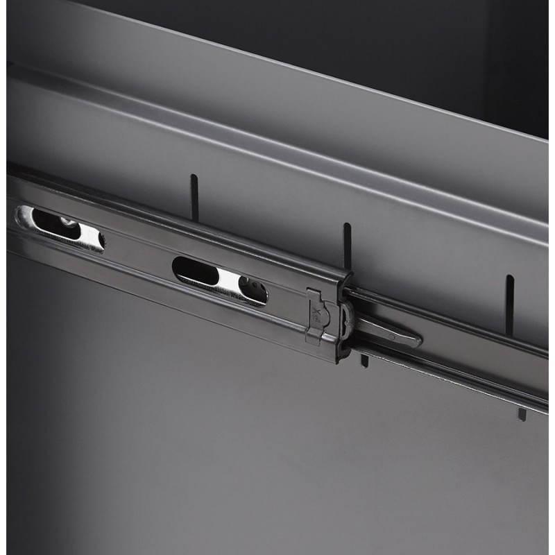 Caisson de bureau design 3 tiroirs MATHIAS en métal (gris) - image 25978