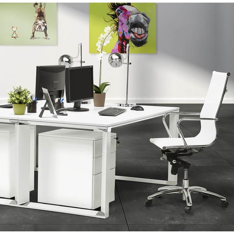 Caisson de bureau design 3 tiroirs MATHIAS en métal (gris) - image 25979