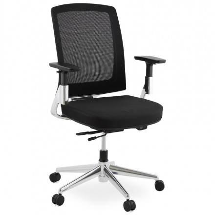 Sillón ergonómico de tela oficina LEO (negro)