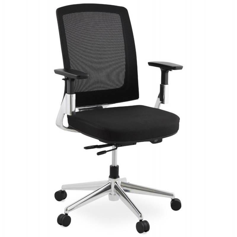 Fauteuil de bureau ergonomique LEO en tissu (noir ) - image 25980