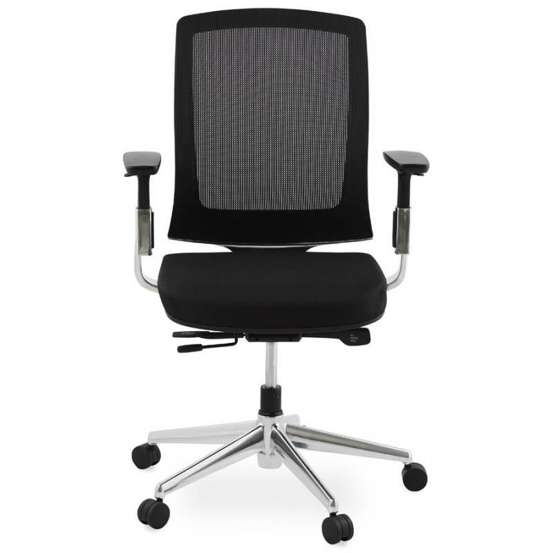 Fauteuil de bureau ergonomique LEO en tissu (noir ) - image 25981