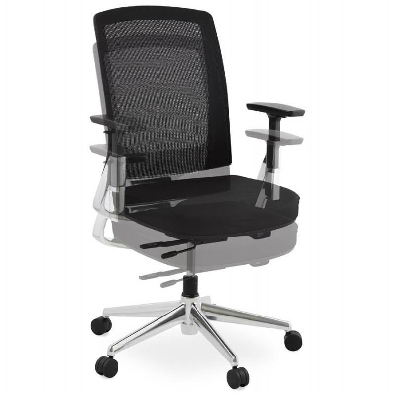 Fauteuil de bureau ergonomique LEO en tissu (noir ) - image 25985
