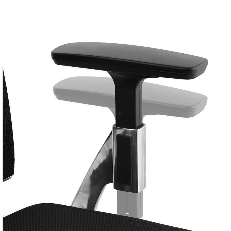 Ergonomic Office LEO (black) fabric armchair - image 25989