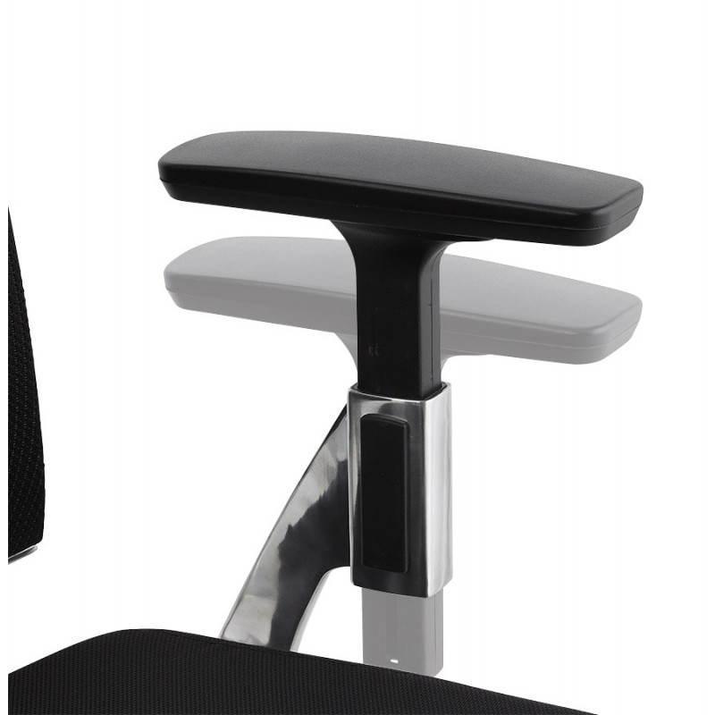 Fauteuil de bureau ergonomique LEO en tissu (noir ) - image 25989