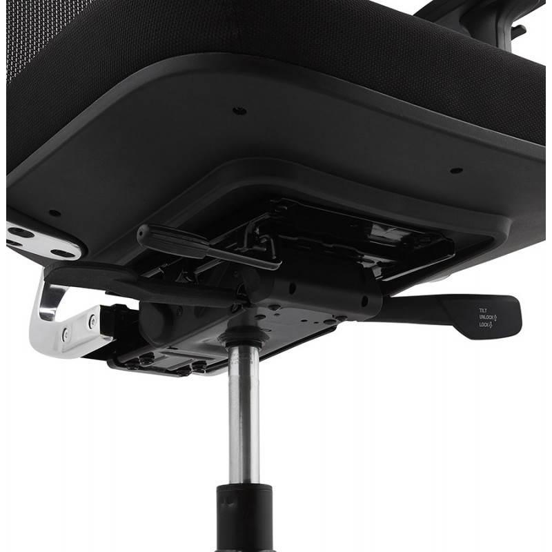 Fauteuil de bureau ergonomique LEO en tissu (noir ) - image 25995