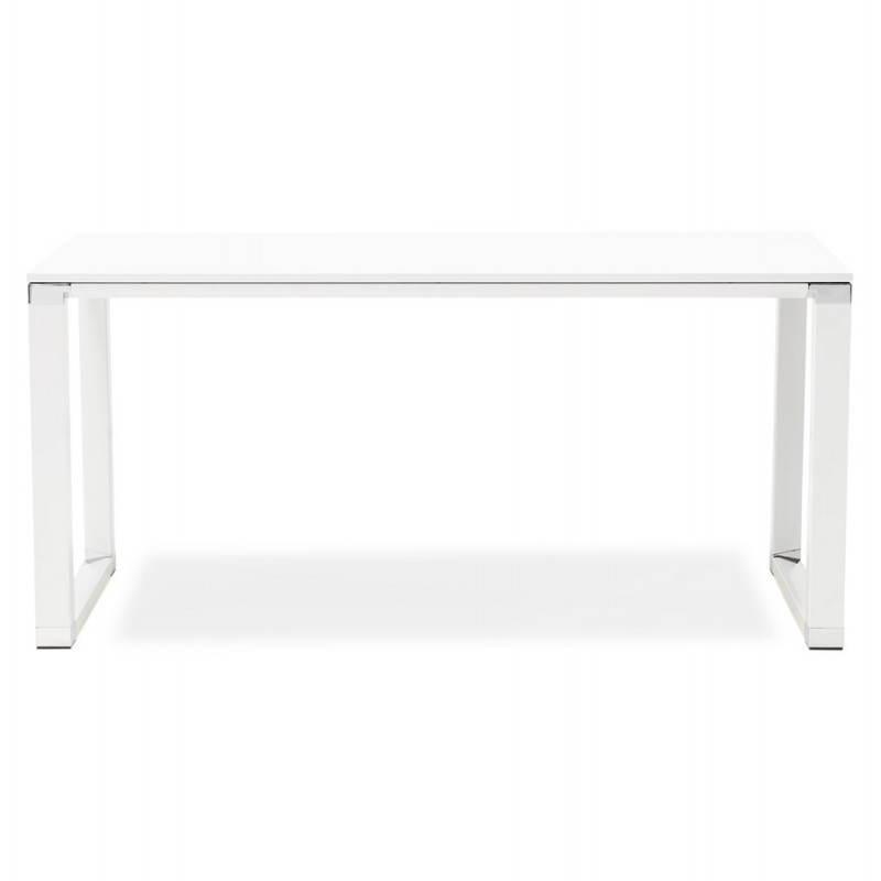 Bureau droit design BOUNY en bois (blanc) - image 25999