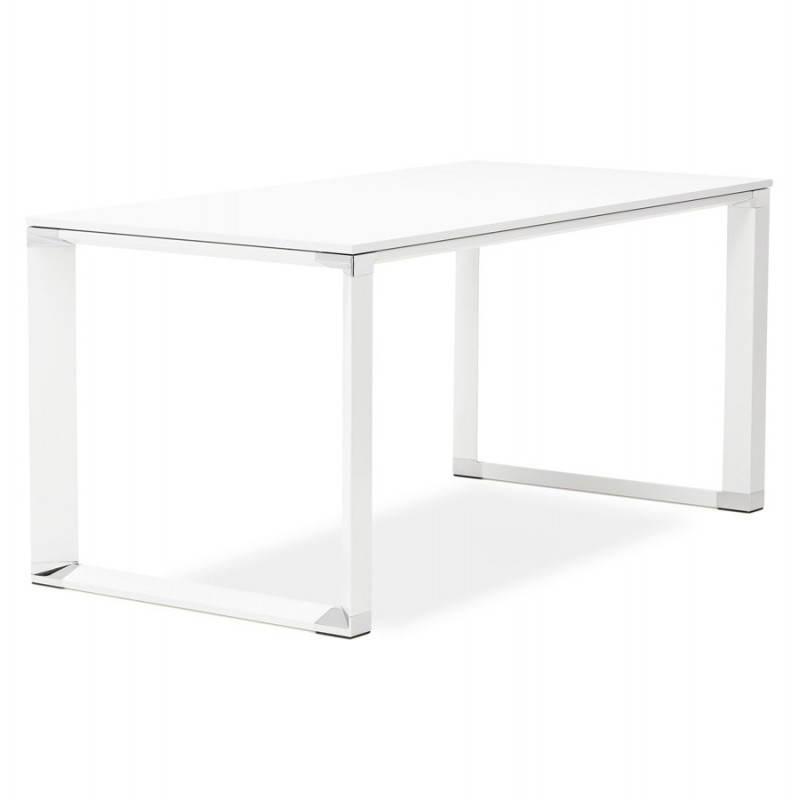 Bureau droit design BOUNY en bois (blanc) - image 26001