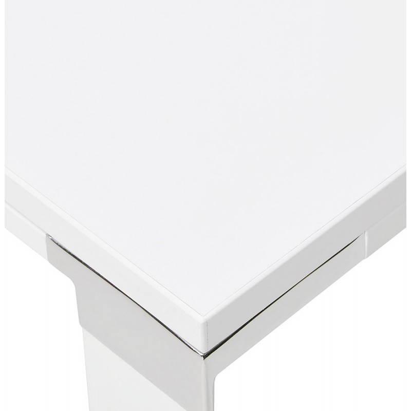 Bureau droit design BOUNY en bois (blanc) - image 26003