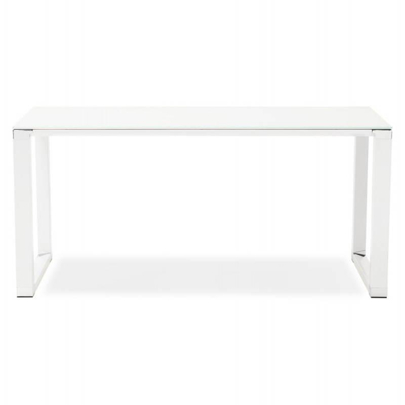 Bureau droit design BOIN en verre trempé (blanc) - image 26012